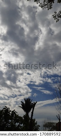 cloud picture in sky view