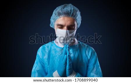 Concept of coronavirus. Doctor with a stethoscope holding the word coronavirus. #1708899040