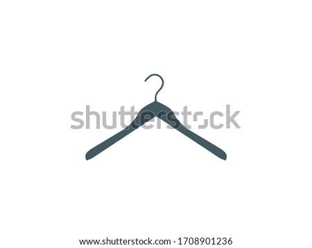 Clothes hanger icon. Vector illustration, flat design. #1708901236