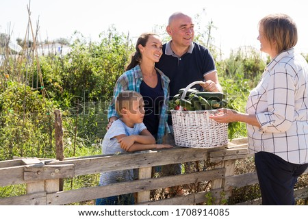 Getting to know the neighbors at the country houses in village #1708914085