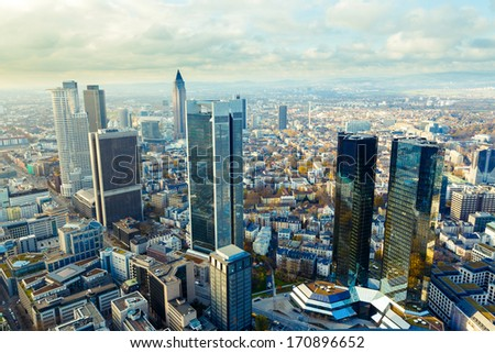 view of the Frankfurt skyscrapers #170896652