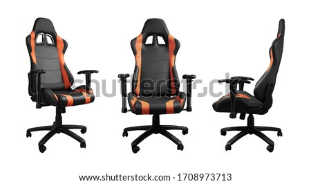 All angels view of racing cars seat design armchair isolated on white background #1708973713