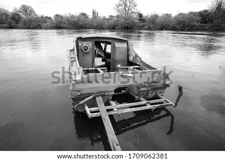 Small river boat sunk example #1709062381