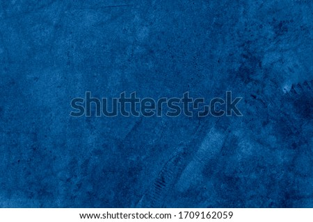 Old wall pattern texture cement blue dark abstract  blue color design are light with black gradient background. #1709162059