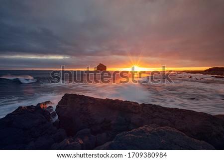 Islandia, on beautiful coast on Iceland #1709380984