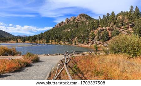 Scenic Lily lake landscape in Rocky mountain national park near Estes Park, Colorado #1709397508