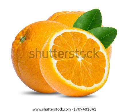 orange fruit isolated on white background #1709481841