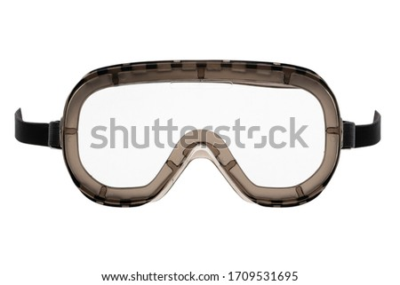 Protective silicone goggles isolated on white background Royalty-Free Stock Photo #1709531695