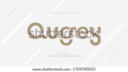 Modern minimal abstract alphabet fonts. Typography technology, electronic, movie, digital, music, future, logo creative font. vector illustration #1709590033