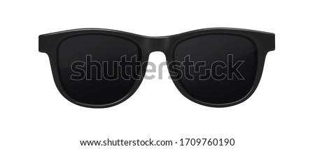 Black sunglasses isolated on white background Royalty-Free Stock Photo #1709760190