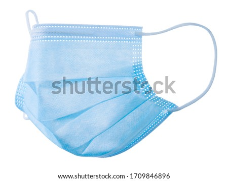 Medical mask isolated on white background, Corona protection ,pollution, virus, flu and Health care and surgical concept. #1709846896