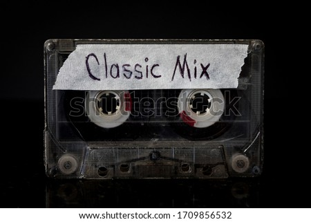 Classic Music Mixtape Classic music mixtape cassette with a black background.