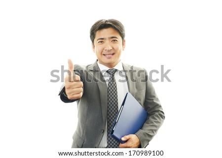 Businessman enjoying success #170989100
