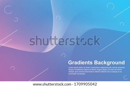 Abstract background gradients color modern design #1709905042