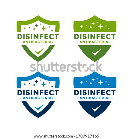 Disinfectant Logo Vector. Antibacterial logo design. Drop and shield vector design for poster, banner, flyer. #1709917165