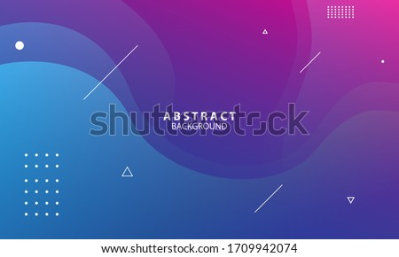 Colorful geometric background. Trendy gradient shapes composition. Cool background design for posters. Vector illustration #1709942074