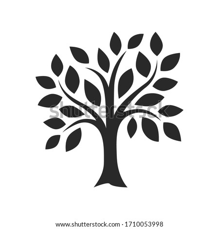 simple tree decor silhouette vector image Royalty-Free Stock Photo #1710053998