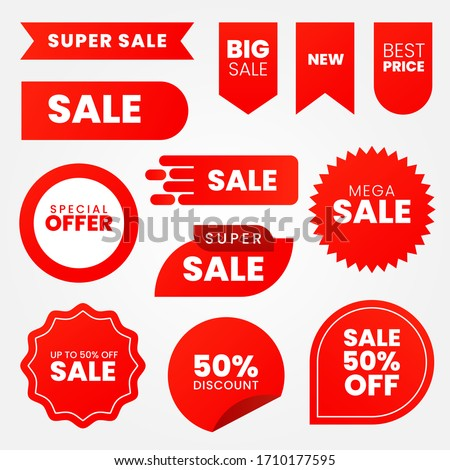 Sale - creative banner set vector illustration.concept discount promotion layout on white background #1710177595