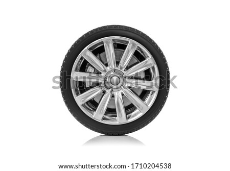 Car wheel isolated on a white background. #1710204538