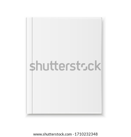 realistic Blank book cover top view isolated