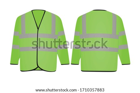 Green safety jacket. vector illustration #1710357883
