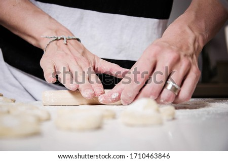 Jiaozi flour dough with a sweet sauce #1710463846