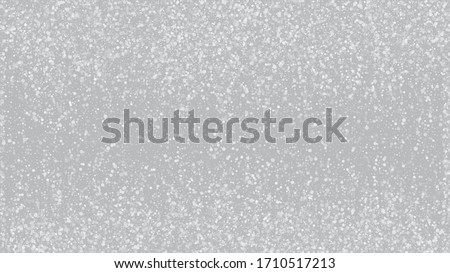 Falling Snow on Gray, Vector. Falling Snowflakes, Night Sky. Advertising Frame, New Year, Christmas Weather. Winter Holidays Storm Background. Elegant Scatter, Grunge White Glitter. Cold Falling Snow #1710517213