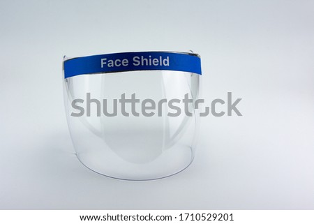 Face shield on a white background. Royalty-Free Stock Photo #1710529201