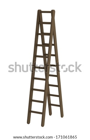 realistic 3d render of ladder #171061865