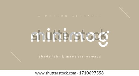 Abstract minimal modern alphabet fonts. Typography minimalist urban digital fashion future creative logo font. vector illustration #1710697558