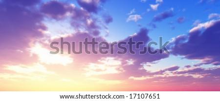 Beautiful sunset #17107651