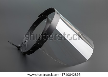 Face Protection Shield for perticulate Royalty-Free Stock Photo #1710842893