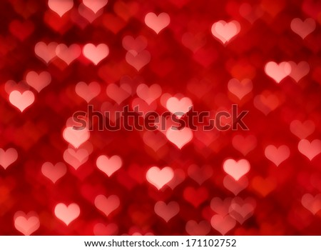 Valentine's day background with  bokeh lights #171102752