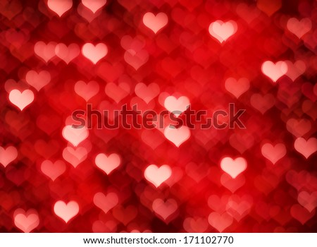 Valentine's day background with  bokeh lights #171102770