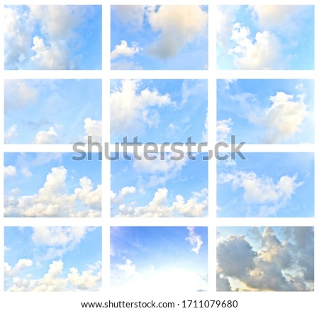 Set blue sky white clouds for background #1711079680