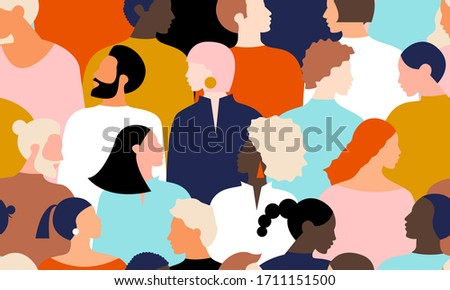 Young people pattern background design #1711151500