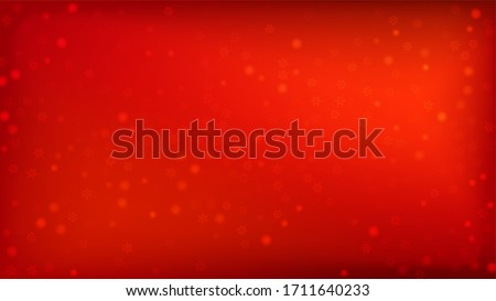 Beautiful Red Christmas Background with Falling Snowflakes.   Vector Falling Snowflakes on a Red Winter Background. Element of Design with Snow for a Postcard, Invitation Card, Banner, Flyer.   #1711640233