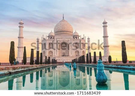 Taj Mahal in India without people, Agra #1711683439