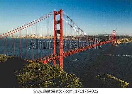 Golden Gate Bridge - connecting San Francisco with Marin County Royalty-Free Stock Photo #1711764022
