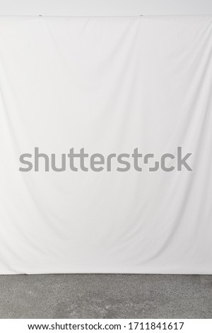 White backdrop ready for a photoshoot