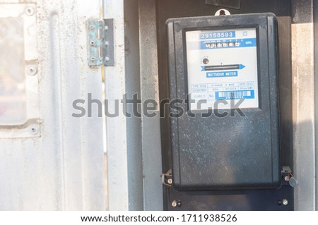 Electricity meter for home use Built for the temple Amount of electric power in the house