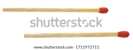 Piles of matchstick isolated on white Royalty-Free Stock Photo #1711972711