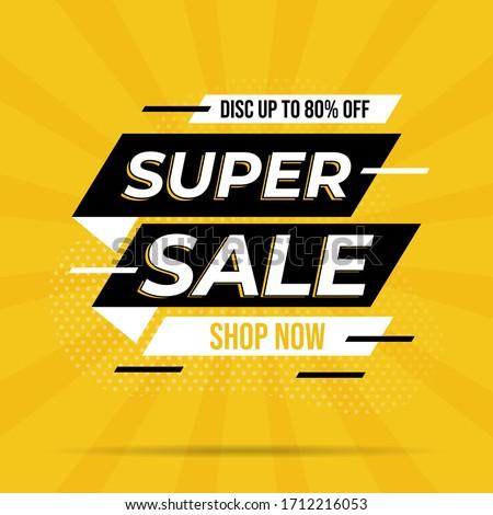 Super sale banner templete design for media promotions and social media promo #1712216053