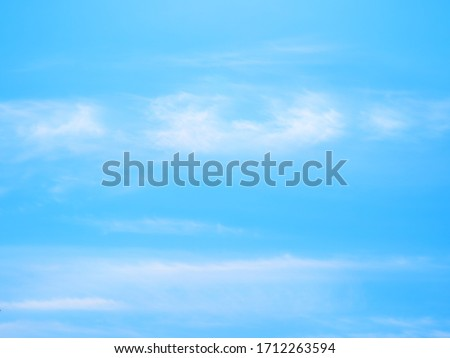 Landscape image of blue sky and thin clouds #1712263594