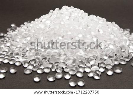 Transparent Polyethylene granules  .HDPE Plastic pellets.  Plastic Raw material  Royalty-Free Stock Photo #1712287750