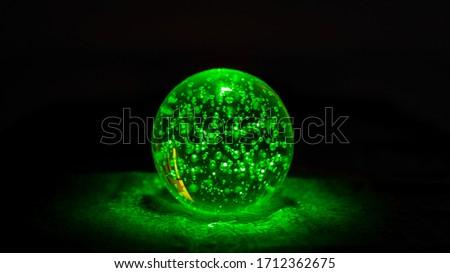 A pic of a green magic ball