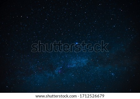 Starry landscape. Many stars and constellations, saver. Space Royalty-Free Stock Photo #1712526679