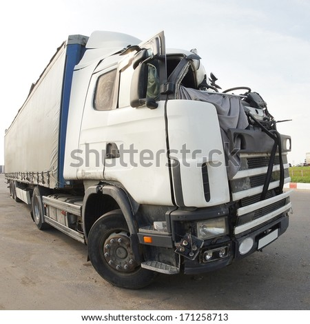 The truck after the road accident #171258713