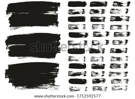Flat Paint Brush Thin Lines & Background Mix High Detail Abstract Vector Lines Background Mix Set  #1712592577