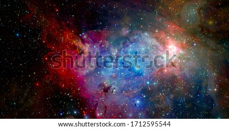 Universe galaxy. Elements of this image furnished by NASA. #1712595544